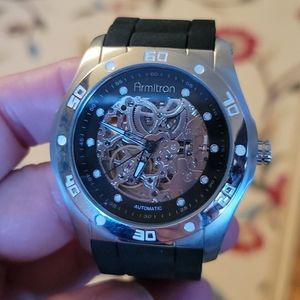 Armitron black dress watch